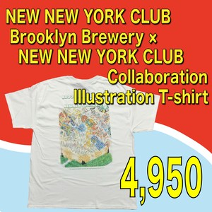 NEW NEW YORK CLUB / Brooklyn Brewery × NEW NEW YORK CLUB Collaboration Illustration T-shirt