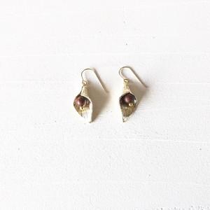leaf s pierce earring