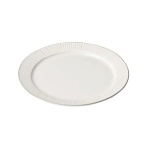 「ティント Tint」プレート 皿 L 約24cm ホワイト 美濃焼 289001