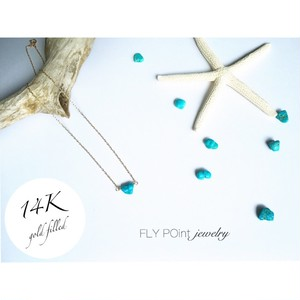 -14kgf -turquoise necklace-