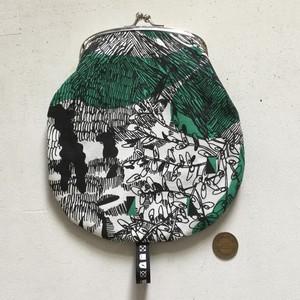 がま口 / purse / M / jungle here 01