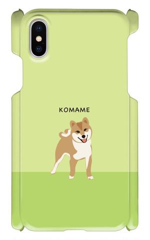 iPhone X こまめスマホケース[GREEN]