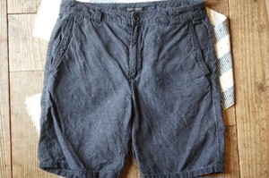 JOHN VARVATOS ash-black linen Shorts