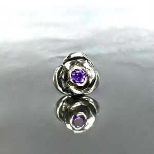 ROSE STUD with AMETHYST / ローズピアス・アメジスト
