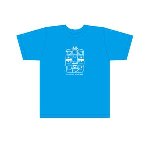 クハ711  キッズTシャツ ブルー