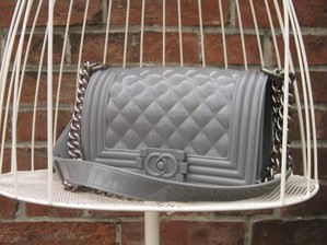 TheDelight JELLY QUILTING CHAIN BAG GREY