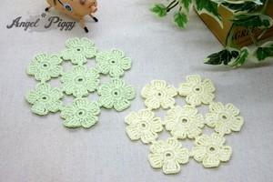 お花モチーフのコースター(2枚セット)
