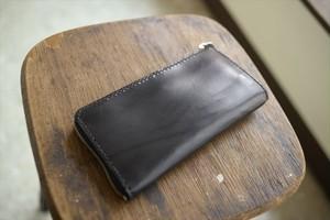 栃木レザーのラウンドファスナーの財布