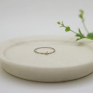 Eucalyptus ちょこんとリング(K10×silver) / YUKIKO MATSUI
