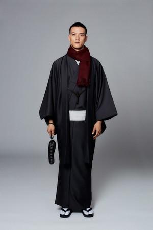 きもの / Silk-wool / Ink(With tailoring)