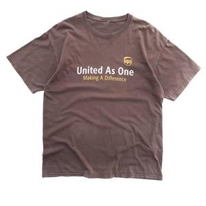 USED United Parcel Service tee - brown