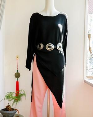90s Brighton black concho leather belt
