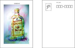 GORDON'S(ゴードン・旧ボトル)ポストカード