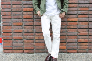 WORKERS / Lot 802 Slim Tapered 13.75オンス White Jeans