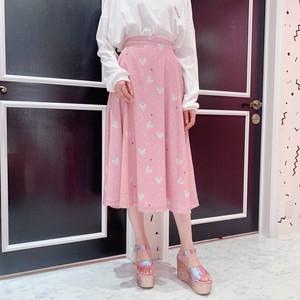 【安野モヨコ×lilLilly】のりこプリントロングスカート