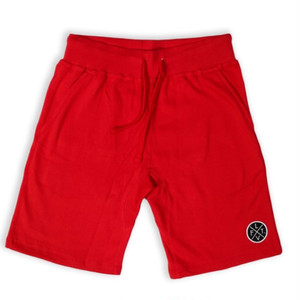 LIVE FIT Prestige Worldwide Sweat Shorts - Red