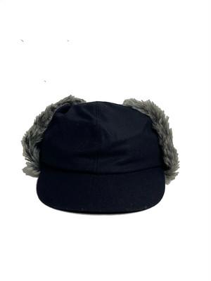 (COMESANDGOES) FLANNEL WOOL FUR EAR CAP