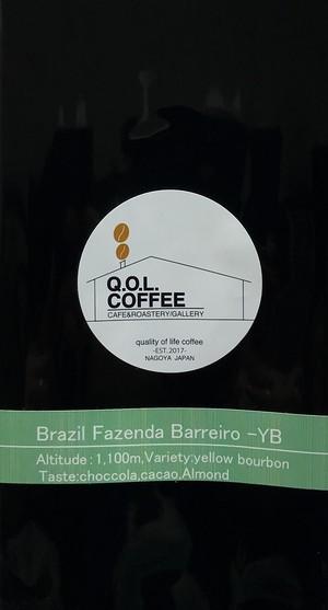BRAZIL Fazenda barraro-YB 100g ちょい深め煎り