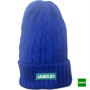 SAIKICKS BOX LOGO CABLE KNIT CAP