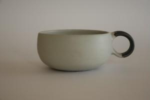 森の種陶工所  スープカップ 白