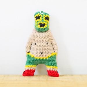 【C】虫神サンダー・ライダーのマスコット(ストラップ)- 編みぐるみ -