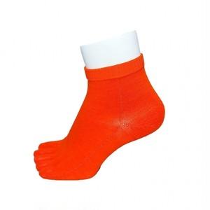 インナーファクト ラミー素材 5本指ソックス ショート丈 ダークオレンジ