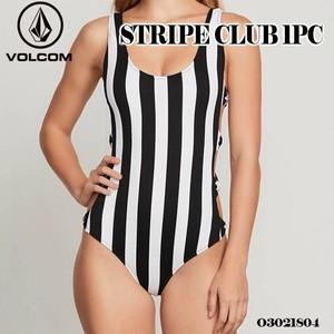 O3021804 ボルコム 水着 レディース 女子 人気ブランド スイムウェア ビキニ レジャー おしゃれ 夏 海 マリンスポーツ リゾート VOLCOM STRIPE CLUB 1 PIECE