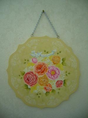 薔薇とミモザのWelcomeボード
