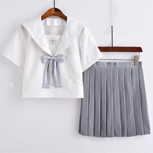 9841コスチューム jk制服 女子高生服 制服 セット 夏 春秋 長袖 半袖 ワイシャツ+スカート レディース 可愛い セーラー服 ショートプリーツスカート 白シャツ 大きいサイズ