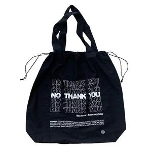 NO THANK YOU 2Way Drawstring Bag