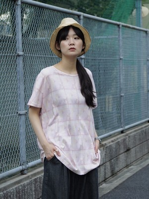 "【SPECIAL SALE】3tsui ""Punk""プリントTシャツ Pink"