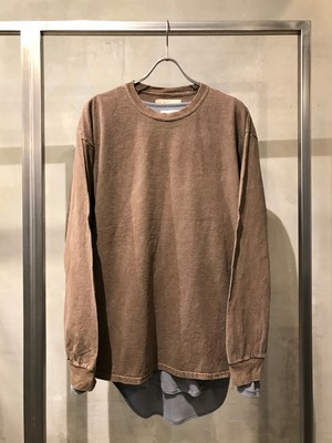 TrAnsference loose fit long sleeve T-shirt - dark sand