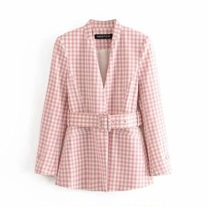 pink check jacket