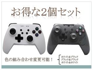 黒白【新品送料無料お買い得2個セット】 Switchコントローラー 多機種対応