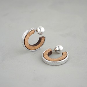 pierced earrings C-P24/earrings C-E24<silver>