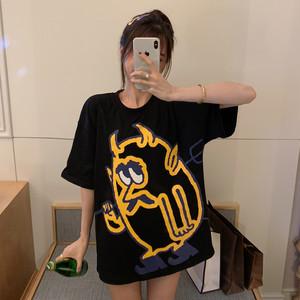 【トップス】売り切れ必至オシャレ感たっぷり個性的なプリントTシャツ19799049