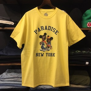 【PARADIS3】-パラダイス-MICKEY AND MINNIE TEE YELLOW