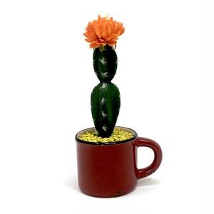 eco plant 021 フェイクグリーン (サボテン) / 陶器製花器