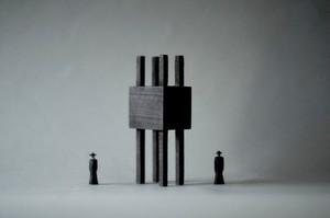 (057)wood figure-mini &structure 箱入 024