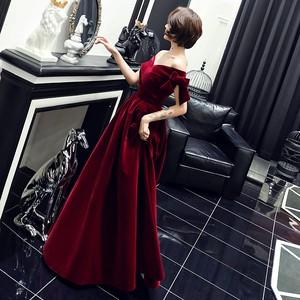 イブニングドレス 赤 レッド 黒 カラードレス オフショルダー ロングドレス 結婚式二次会 発表会 披露宴 演奏会 大きいサイズ  小さいサイズ 8021