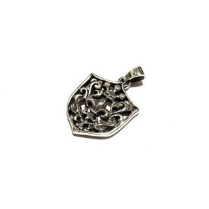 シルバー925 ネックレストップ ユリの紋章×シールド