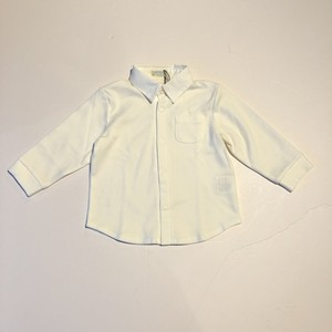 whipcream 襟付きスムースシャツ   [ 80cm ] ホワイト 長袖シャツ