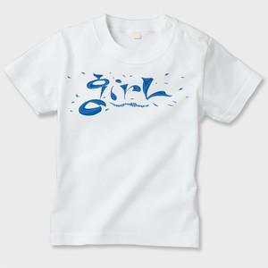 キッズTシャツgirl Logo  白