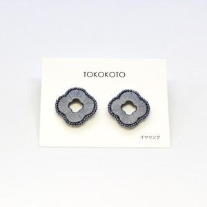 【TOKOKOTO】フラワービーズアラウンドイヤリング