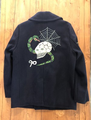 【WEIRDO】 SKULL&SNAKE - PEA  COAT / NAVY