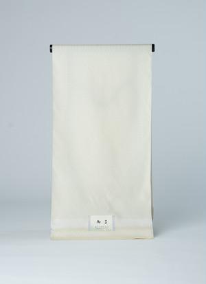 御召縮緬の反物 麻の葉の模様の無地御召 正絹製 カジュアル