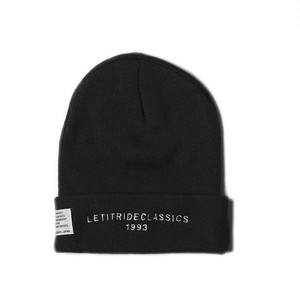 "Let it Ride Classics ""LIRCKNITCAP"" BLACK/W"