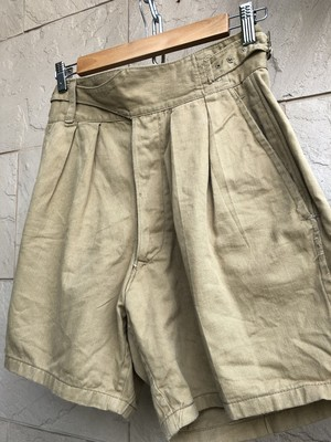 Old British military khaki Gurkha shorts 3