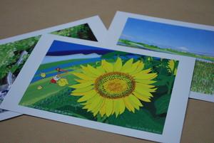 絵葉書 『北杜の夏』 3枚セット ~グラフィックアートTiki&Puffyシリーズ~ 【清春旅と空想の美術館】