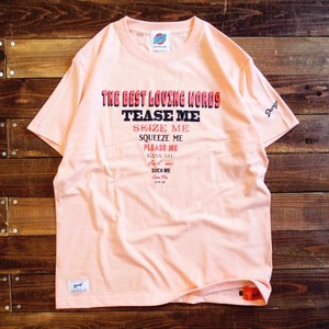 "【DARGO】""LOVING WORDS"" T-shirt (APRICOT)"